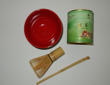 japanische lebensmittel matcha tee set f r die japanische teezeremonie. Black Bedroom Furniture Sets. Home Design Ideas