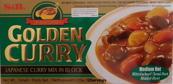 S&B Golden Curry Medium Mittelscharf